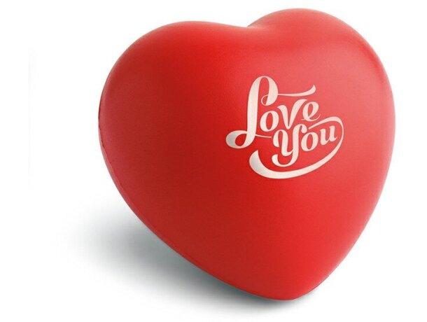 Antiestrés corazón blanco o rojo personalizado