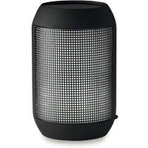 Altavoz bluetooth con control remoto y led personalizado negro