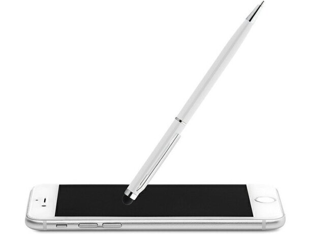 Bolígrafo con puntero y clip cuadrado grabado