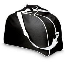 Bolsa de deporte con correa extraíble y asas de mano grabada negra