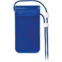 Bolsita para móvil personalizada azul transparente