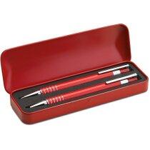 Set de bolígrafos en estuche azul