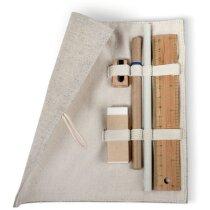 Set papeleria en bolsa algodón