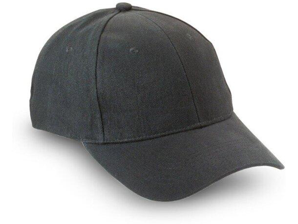 Gorra básica de algodón en colores personalizada negra