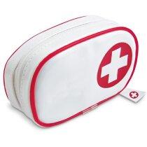 Botiquín de primeros auxilios en PVC personalizado rojo