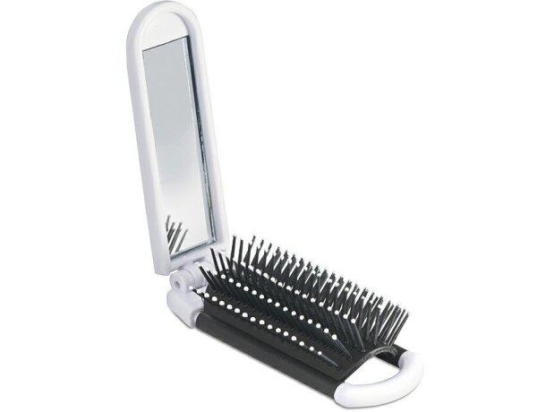 Cepillo plegable con espejo de bolsillo