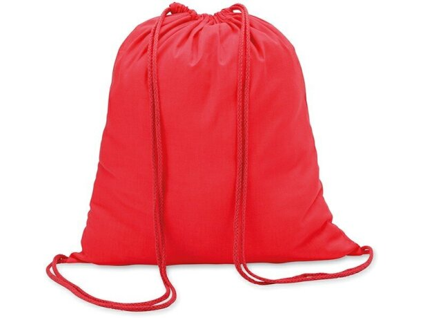 Mochila saco algodón 100gr personalizada roja