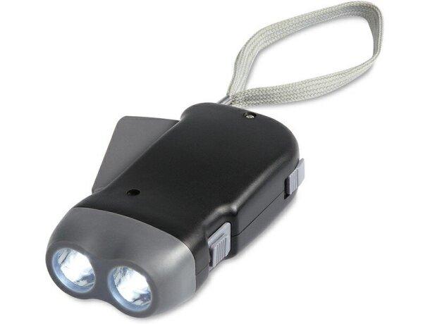 Linterna pequeña de carga manual personalizada negra