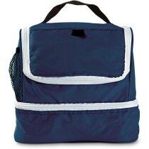 Bolsa con 2 compartimentos para la compra azul