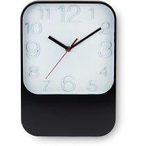 Reloj De Pared Rectangular Para Imprimir Personalizado Negro