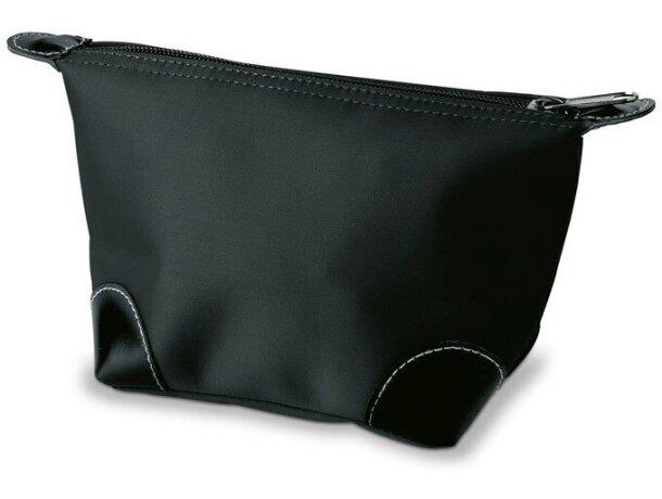 Neceser con cremallera y esquinas reforzadas personalizado negro
