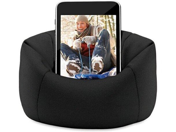Puf para móvil personalizado negro