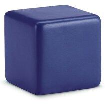 Antiestrés con forma de cubo de un color personalizado azul