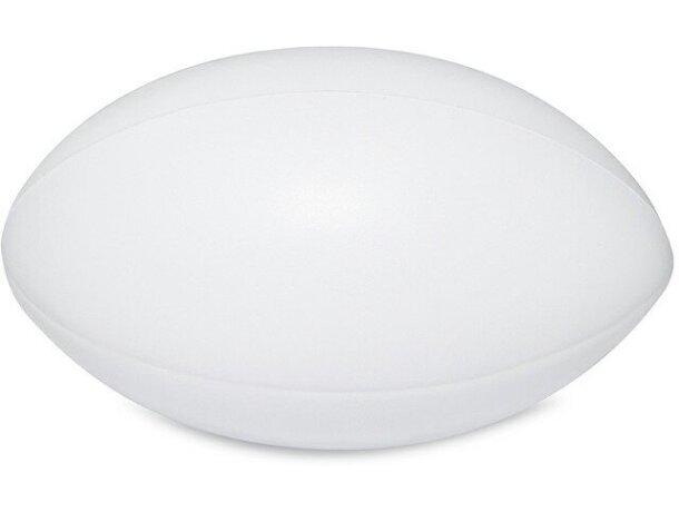 Antiestrés con forma de pelota de rugby blanco