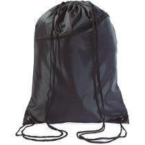 Bolsa saco grande con cuerdas negra barata