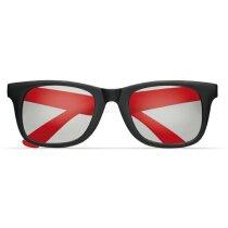 Gafas de sol de dos colores personalizada roja