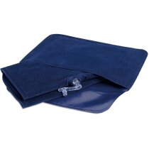 Almohada de viaje inflable personalizada azul