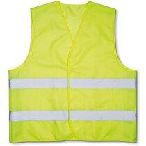 Chaleco de seguridad con bandas reflectantes personalizado amarillo