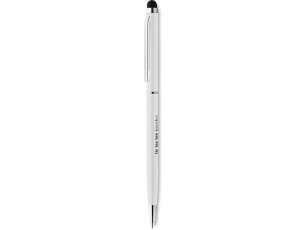 Bolígrafo con puntero y clip cuadrado personalizado