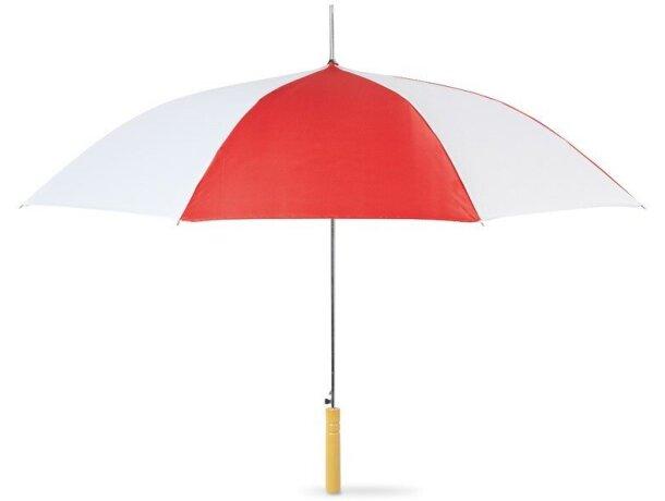Paraguas con paneles bicolor personalizado rojo