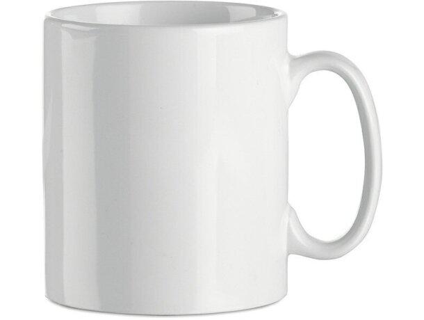 Taza de cerámica lisa para sublimacón a todo color blanca personalizado