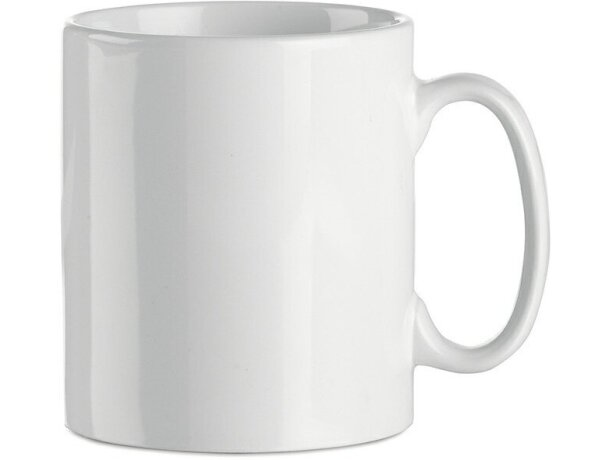 Taza de cerámica lisa para sublimacón a todo color blanca