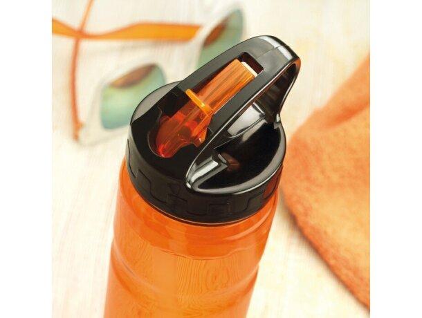 Botella con pajita en varios colores personalizada