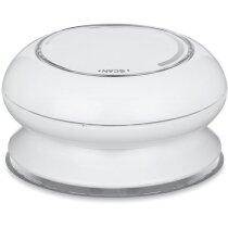 Radio para ducha con ventosa personalizada blanca