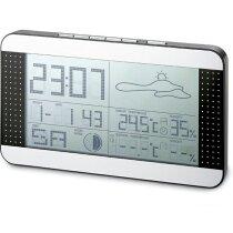 Estación meteorológica multiplicación pantalla digital personalizada plateado mate