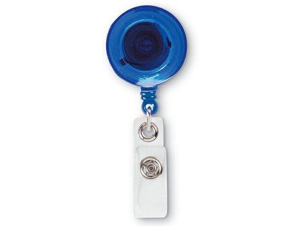 Insignia con clip para identificación azul