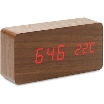 Reloj de sobremesa en madera personalizado