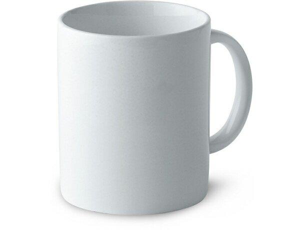 Taza de cerámica básica para transfer vitrificable blanca