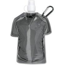 Botellín plegable forma de camiseta personalizado negro