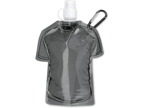 Botellín plegable forma de camiseta barato negro