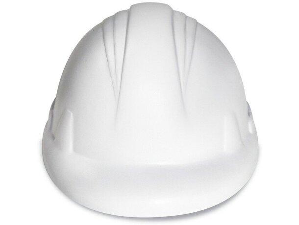 Antiestrés con forma de casco personalizado blanco