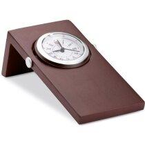 Reloj de sobremesa acabado caoba personalizado madera