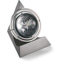 Reloj de sobremesa base de pirámide personalizado titanio