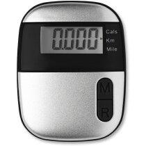 Podómetro contador de kms y calorías personalizado negro