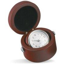 Reloj de sobremesa en caja de madera personalizado madera