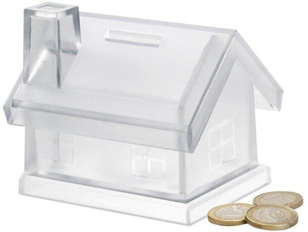 Hucha de plástico forma de casa personalizada