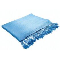 Pashmina con flecos azul