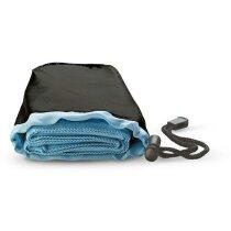Toalla  en bolsa personalizada azul
