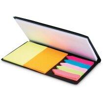 Set de notas adhesivas de colores personalizada negra
