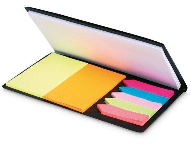 Set de notas adhesivas de colores barata negra