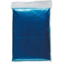 Impermeable plegado de colores personalizado azul