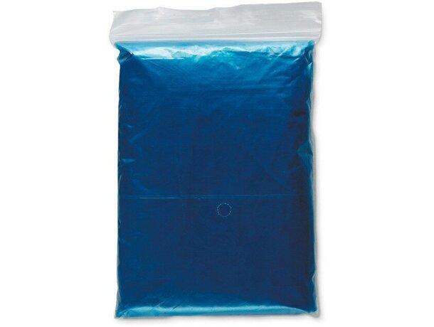 Impermeable plegado de colores barato azul