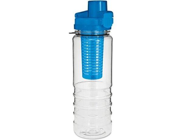 Botella con compartimento para fruta barata azul