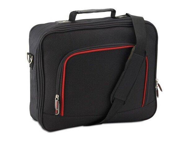 Bolsa de oficina para portátil personalizada negra