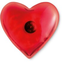 Calienta manos en forma de corazón rojo
