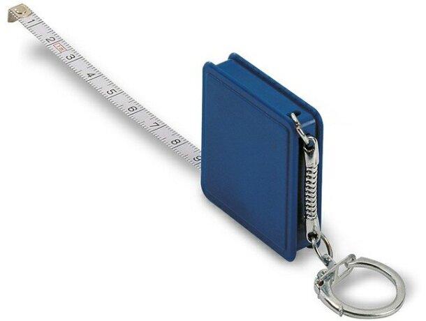 Llavero Fcon flexómetro cuadrado personalizado azul